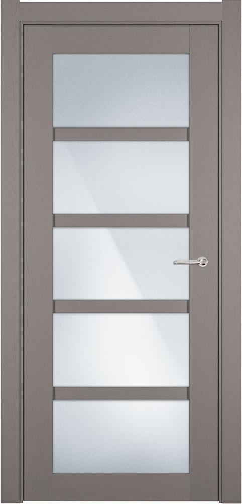Дверь Status Optima 122 грей стекло матовое