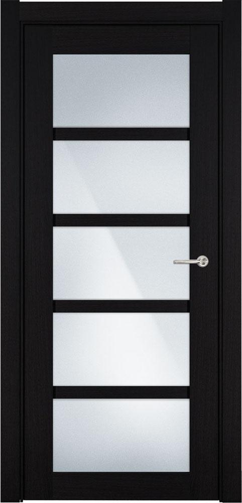 Дверь Status Optima 122 дуб черный стекло матовое
