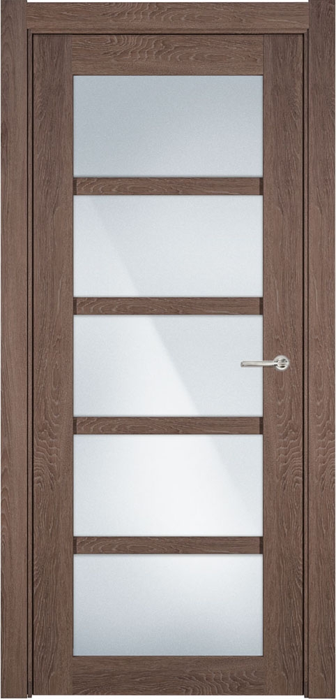 Дверь Status Optima 122 дуб капучино стекло матовое