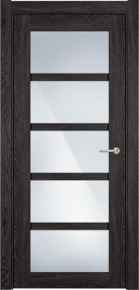 Дверь Status Optima 122 дуб патина стекло матовое