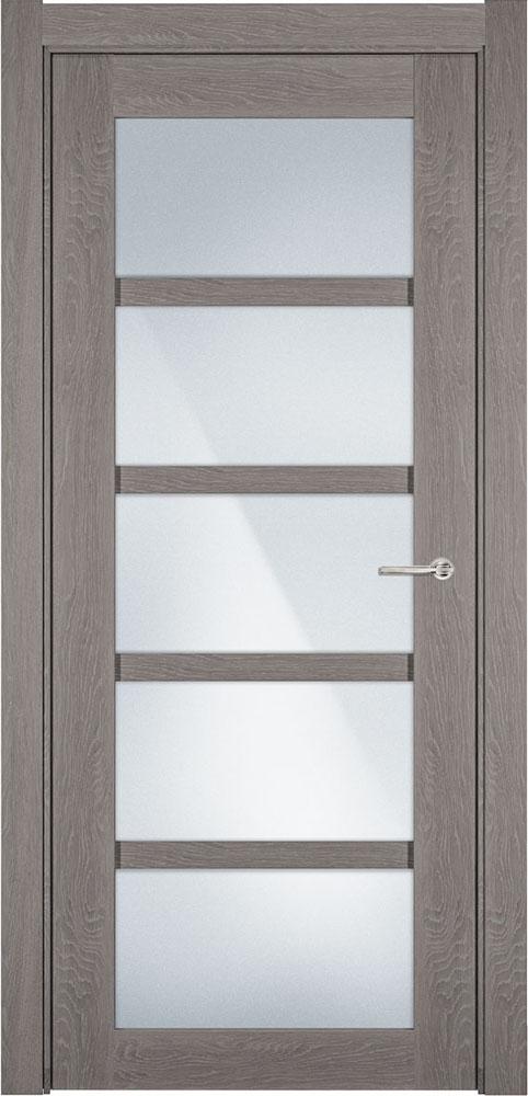 Дверь Status Optima 122 дуб серый стекло матовое