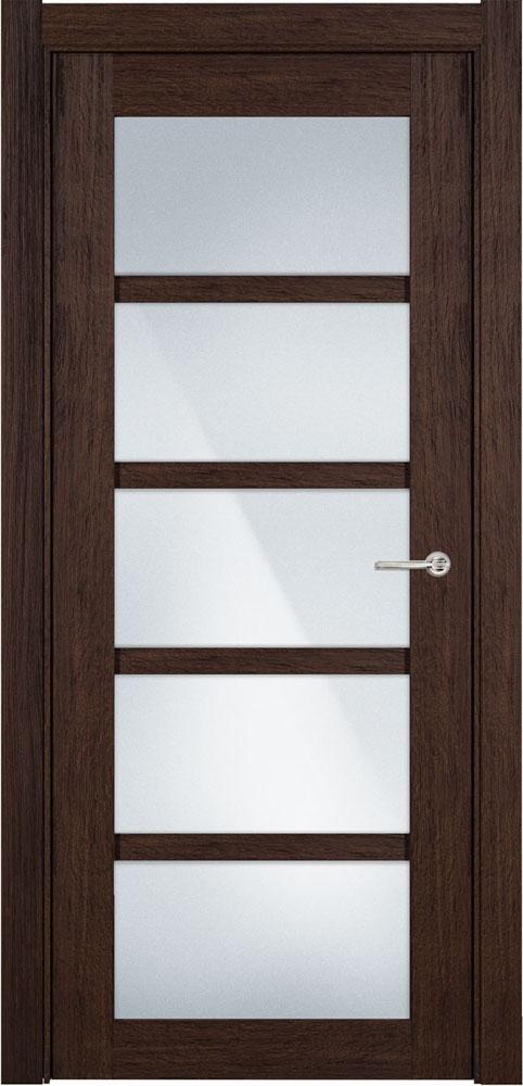 Дверь Status Optima 122 орех стекло матовое